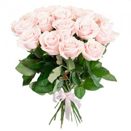 25 нежных розовых роз