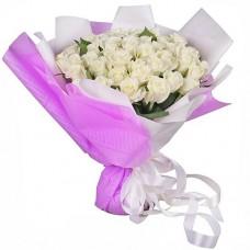 51 белая роза «Люкс»
