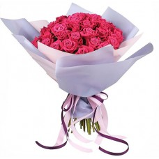 51 розовая роза «Люкс»