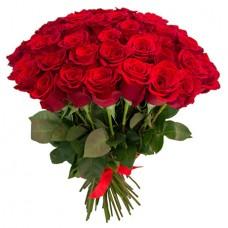 65 красных роз