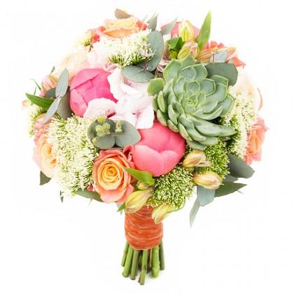 Букет невесты «Коралловый риф»