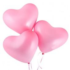 Воздушные шарики нежно-розовые сердца